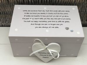 Personalised LARGE Box In Memory Of A Loved One ~ Loss Of Daughter Son Any Name - 253464774456